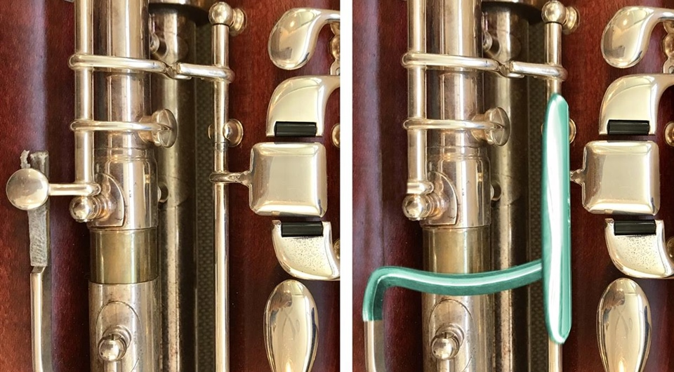 On the bench - Contra bassoon modification